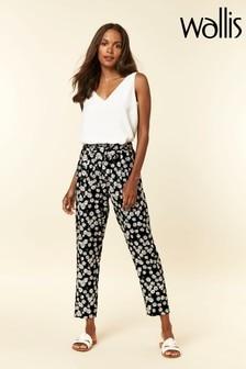Wallis Petite Black Daisy Trousers