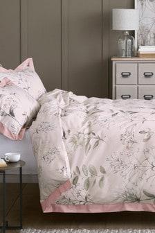 طقم سرير زهور رقيقة قطن بالغ النعومة