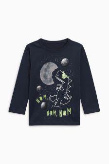 Space Dino Long Sleeve T-Shirt (3mths-6yrs)