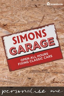 Personalised Vintage Garage Sign by Loveabode