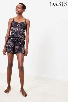Oasis Grey Constellation Frill Pyjamas