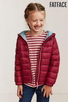 FatFace Red Poppy Packaway Padded Jacket