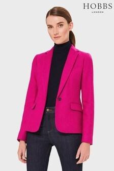 Hobbs Pink Blake Wool Jacket