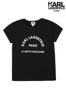 Karl Lagerfeld Black Logo T-Shirt