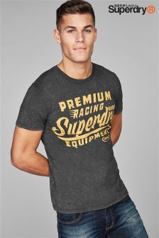 Superdry Black Premium Racing T-Shirt