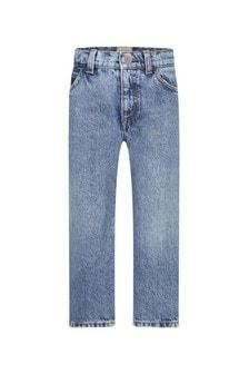 GUCCI Kids Boys Blue Cotton Jeans