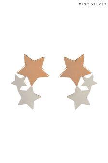 Mint Velvet Silver Tone Trio Star Stud Earring