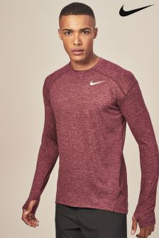 Nike Burgundy Crush Long Sleeved Element Top