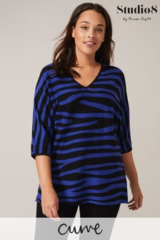 Studio 8 Black Harper Zebra Knit Top