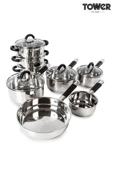 8 Piece Saucepan Set by Tower