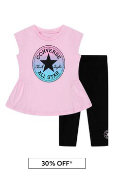 Converse Baby Girls Black Cotton Outfit