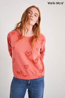 White Stuff Red Cotton Sweater