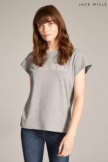 Jack Wills Grey Marl Forstal Boyfriend T-Shirt
