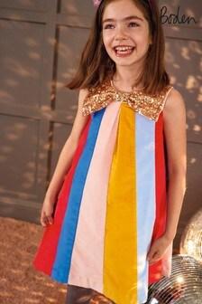 Boden Multi Sparkle Bow Rainbow Dress