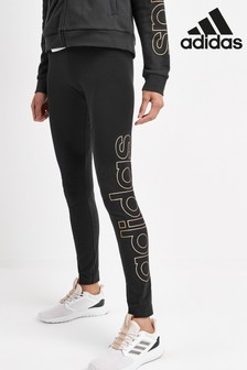 adidas Black Essential Large Linear Leggings