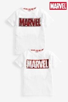 Marvel Flippy Sequin T-Shirt (3-16yrs)
