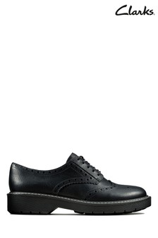 Clarks Black Witcombe Echo Shoe