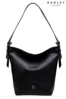 Radley Black Finch Street Large Bucket Hobo