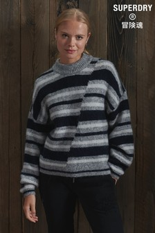 Superdry Chunky Mismatched Stripe Crew Jumper