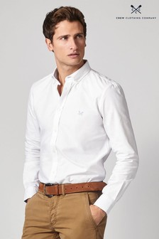 Crew Clothing Company White Oxford Slim Shirt