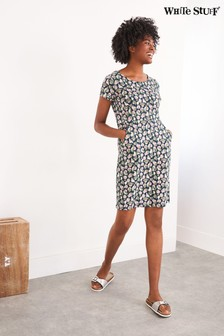 White Stuff Green Sage Fairtrade Dress