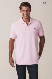 Crew Clothing Pink Classic Pique Poloshirt