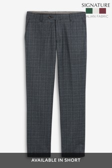 Marzotto Signature Check Suit: Trousers