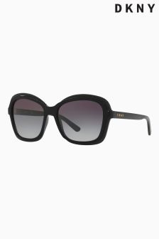DKNY Black Retro Square Sunglasses