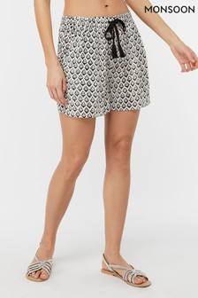 Monsoon Ladies Cream Casey Bagru Short