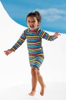 Frugi UPF 50+ Rainbow Stripe Jammer Swim Shorts