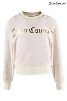 Juicy Couture Velour Crew Neck Sweat Top
