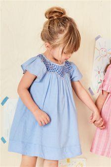 Flower Smocked Dress (3mths-6yrs)