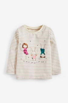Sequin Character Stripe T-Shirt (3mths-7yrs)