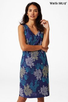 White Stuff Blue Amora Dress