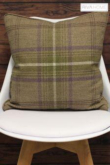 Riva Home Brown Aviemore Reversible Plaid Cushion