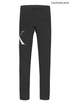 Calvin Klein Jeans Black Hybrid Logo Leggings