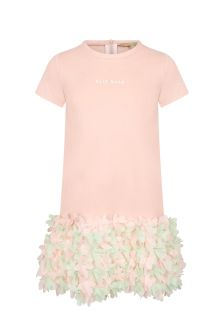 ELIE SAAB Girls Pink Viscose Dress