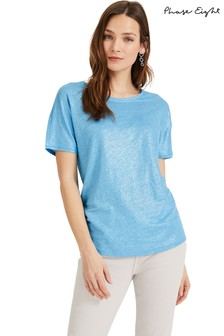 Phase Eight Blue Lara Shimmer Foil T-Shirt