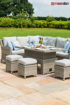 Oxford Light Grey Corner Dining Set by Maze Rattan