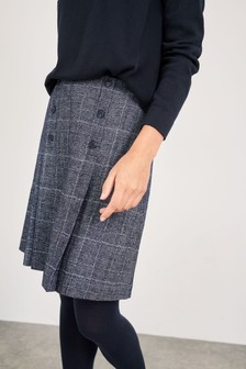 White Stuff Navy Cardamom Mini Wool Skirt