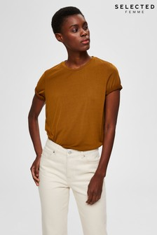 Selected Femme Bronze Brown T-Shirt