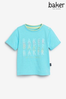 Baker by Ted Baker Blue Graphic T-Shirt