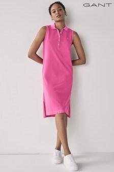 GANT Pink Sunfaded Pique Polo Dress