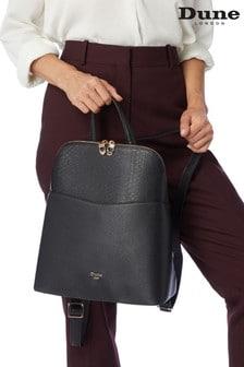 Dune London Black Plain Synthetic Dovalle Plate Backpack