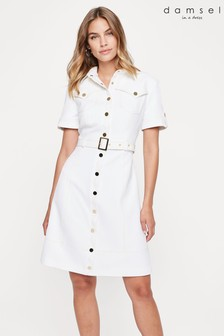 Damsel In A Dress White Marley Shirt Dress