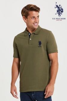 U.S. Polo Assn. Green Large Pique Poloshirt