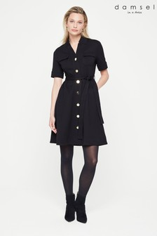 Damsel In A Dress Black Tina Jersey Dress