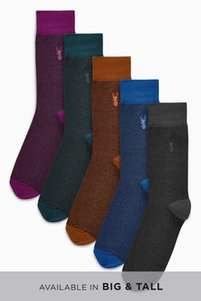 Fine Stripe Socks Five Pack
