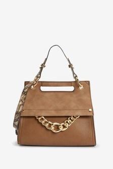 Chain Detail Hand Held Bag