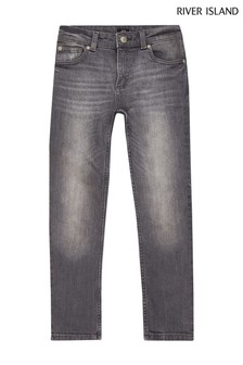 River Island Grey Sid Dexter Clean Jeans